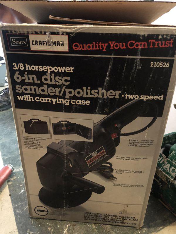 New 6 in disc sander/polisher