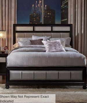 Metallic Leatherette Bedroom set- Queen for Sale in Long Beach, CA