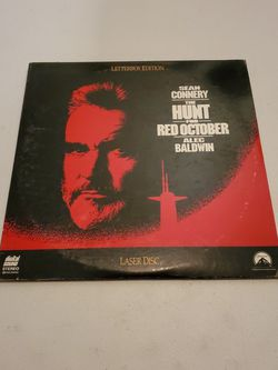 The Hunt For Red October Laser Disc Sean Connery Alec Baldwin Paramount 1990 for Sale in Fresno,  CA