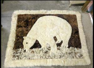 Polar Bear Alpaca Fur Rug for Sale in Bridgeton, NJ