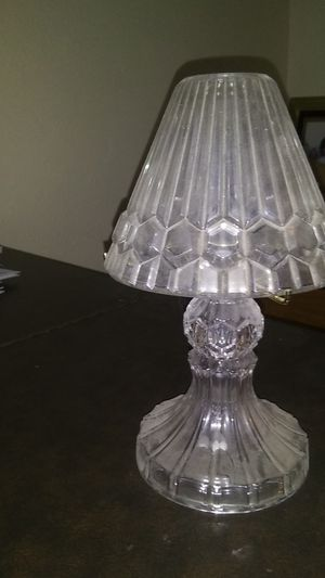 Crystal candle holder/lamp for Sale in Riverside, CA