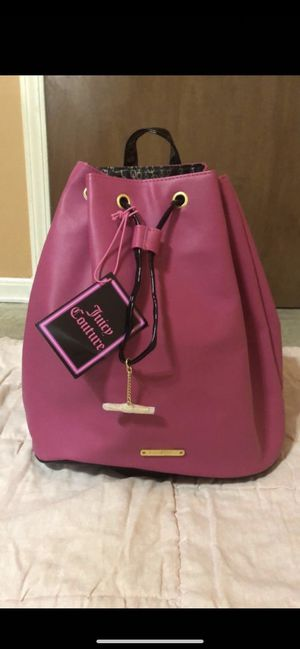 Hot pink Juicy couture Backpack. Brand new for Sale in Shelby Charter Township, MI