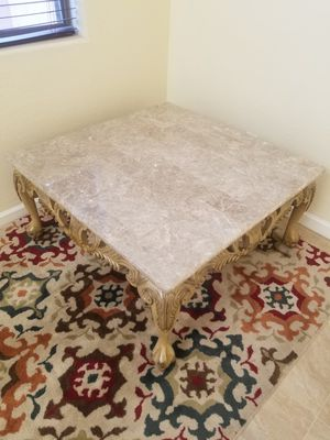Real Marble Coffee Table for Sale in Goodyear, AZ