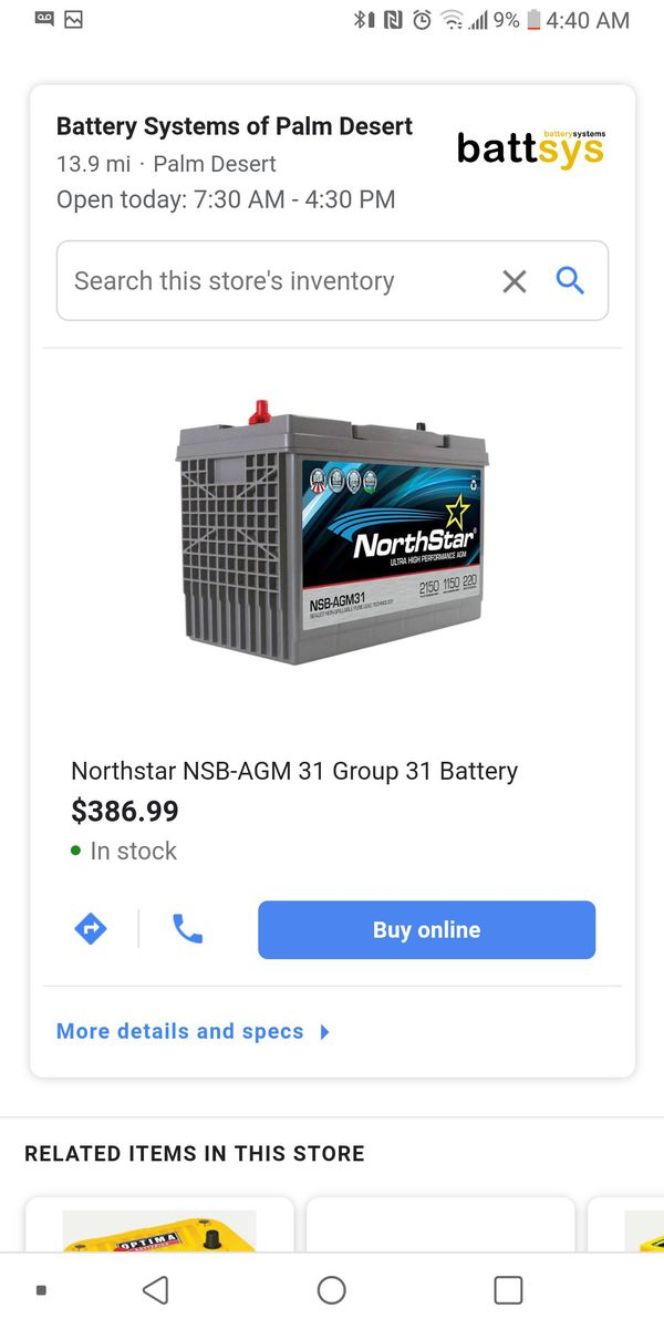 Northstar AGM PRO Battery Brand New W/Warranty