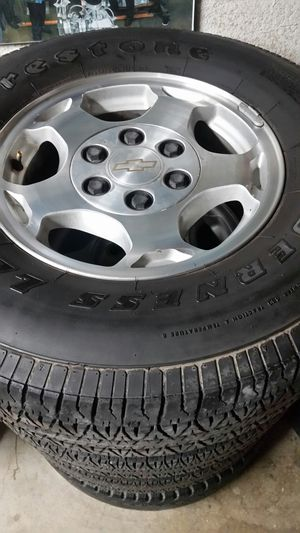 """Wheels and tires 16"""" 6 lug chevy for Sale in Riverside, CA"""