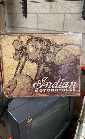 Metal Indian Motorcycle sign for Sale in Westminster, MD