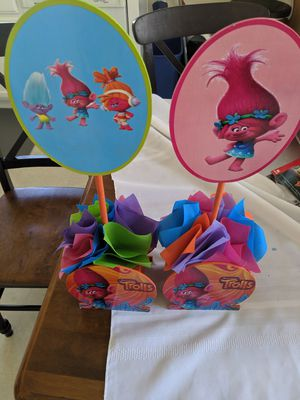 Trolls decorations for birthday party for Sale in Santa Maria, CA