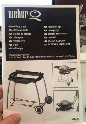 Weber grill with stand and cover. for Sale in Green Bay, WI
