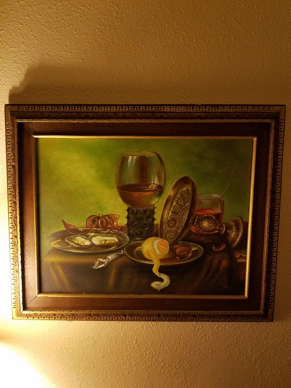 PAINTING- Some cheese with that wine?