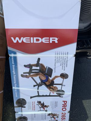 Work out bench with bar and 80lbs weight. Brand new for Sale in Avondale, AZ