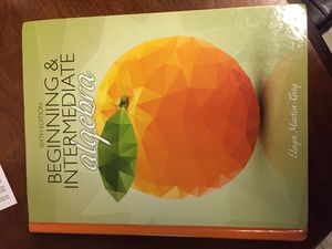 Beginning & Intermediate algebra sixth edition for Sale in East Dundee, IL