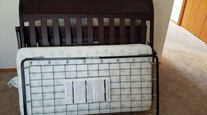 Baby crib + mattress. Dark brown. Still in very very good condition. for Sale in Hillsboro, OR