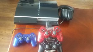 PS3 WITH CONTROLLERS AND GAMES for Sale in Grand Terrace, CA