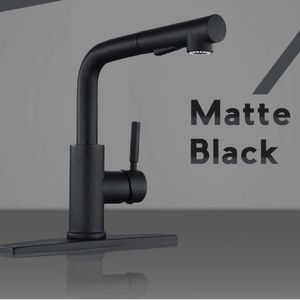 Peppermint Matte Black Kitchen Sink Faucet with Pull Down Sprayer Single Lever for Sale in Phoenix, AZ