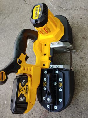 DEWALT 20v compact bandsaw W battery 5.0ah for Sale in Oakland, CA