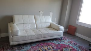 White leather couch for Sale in Palo Alto, CA