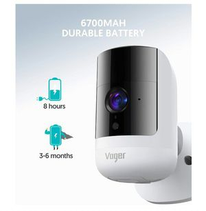 Security Camera Outdoor Wireless Wifi, Voger Rechargeable Battery Powered Surveillance System, 1080P with Dual PIR Motion Detection, 160°Wide Angle for Sale in Rancho Cucamonga, CA