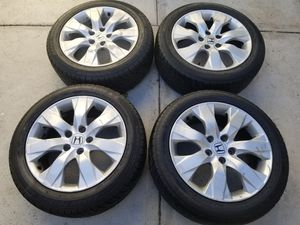 Factory honda rims from an accord, will fit most accord from the mid 2000s until now. for Sale in Riverside, CA