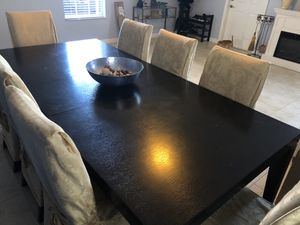 Dark brown table with 8 chairs for Sale in Miami, FL