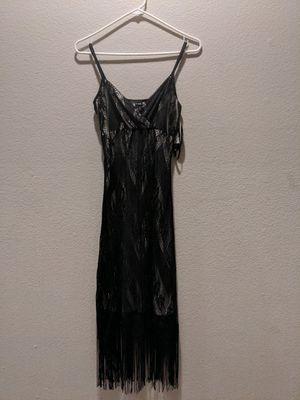 Long Black Flapper Dress for Sale in El Dorado Hills, CA