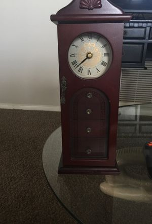 Antique jewelry stand with clock for Sale in Indianapolis, IN