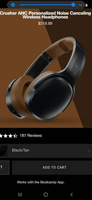 Skullcandy Crusher 360 wireless headphones limited edition... for Sale in Tucson, AZ