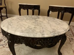Italian Carved Marble Table Set for Sale in Riverside, CA