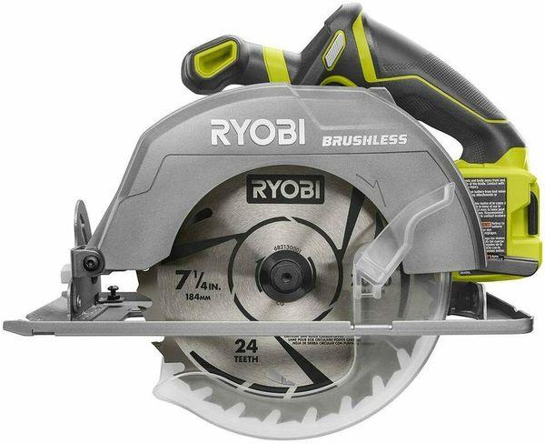 Ryobi ONE+ P508 7-1/4 in. Circular Saw 18V Cordless Brushless Tool Only