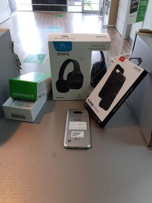 LG Fortune 3, Case, and Bluetooth Headphones for Sale in Austin, TX