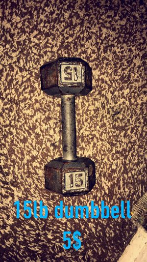 15 lb dumbbell for Sale in Magna, UT