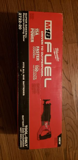 Milwaukee Fuel SUPER sawzall for Sale in Chicago, IL