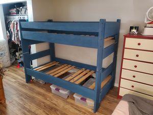 Twin Bunk Bed - No Mattresses for Sale in Hemet, CA