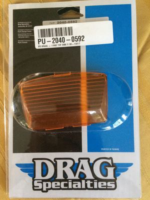 Harley Davidson motorcycle front fender lens cover new in packaging by drag specialties for Sale in West Palm Beach, FL