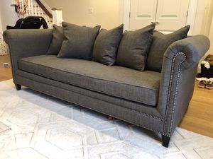 Crate & Barrel Durham Pillow Back Sofa for Sale for sale  Brooklyn, NY