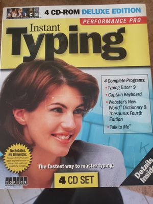 Learn how to type..Instant typing cd roms for Sale in Buffalo, NY
