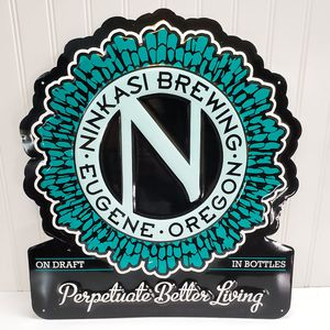 Ninkasi Brewing Beer Sign Eugene Oregon Tin Tacker Metal Bar Tavern Pub Man Cave for Sale in Roseville, CA