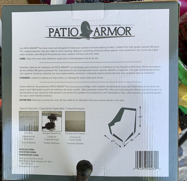 """Patio Armor Stack of Chairs Cover, 30""""/27""""/48"""""""