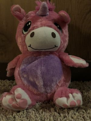 Pink unicorn stuffed animals that turns into ball for Sale in La Grange Park, IL