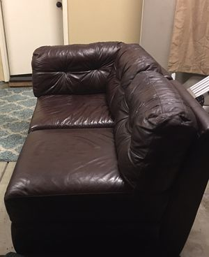 Genuine Leather sectional couch for Sale in Chula Vista, CA