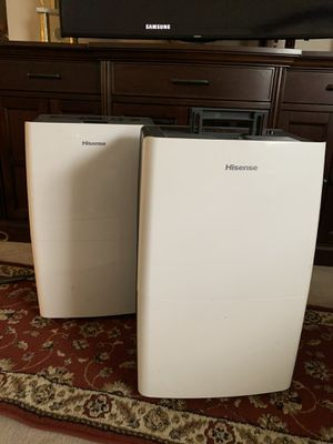 HISENSE DEHUMIDIFIERS for Sale in Raleigh, NC