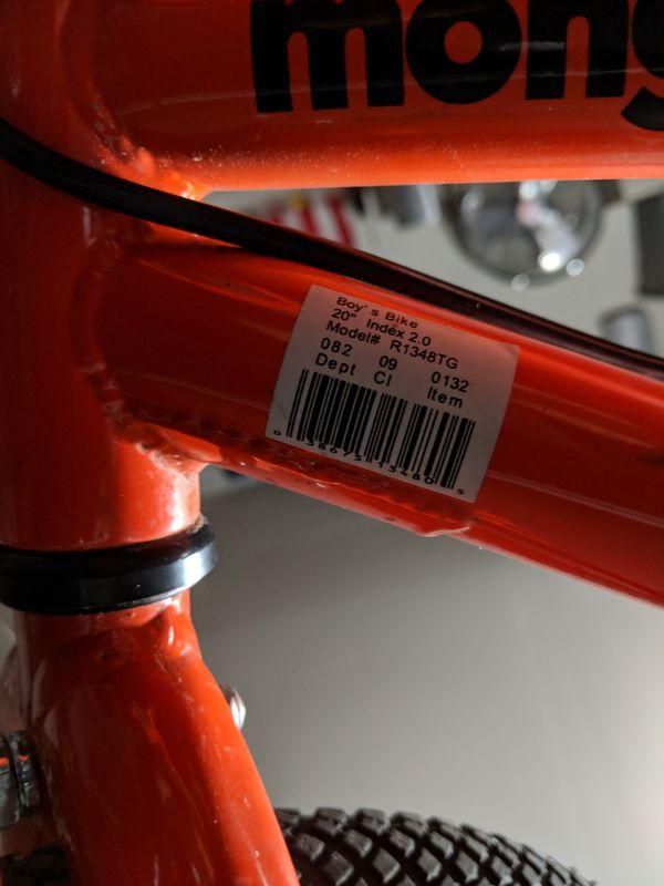 """Kids Mongoose Index 2.0 - 20"""" Bike - Orange"""
