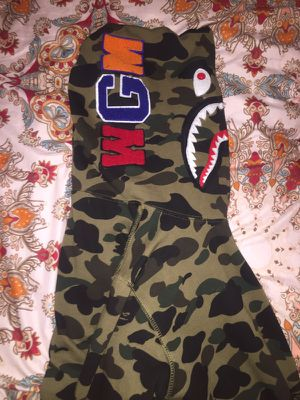 Bape Camo Shark Full zip-up hoodie M for Sale in Miami, FL