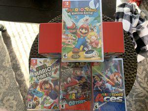 Nintendo Switch Lite Pokémon Edition + Super Mario Odyssey, Mario Tennis Aces, Mario Rabbids Kingdom Battle, Super Mario Party!! for Sale in Saint Charles, MO