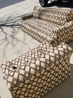 Vintage Mid Century Modern Retro Sleeper Futon Sofa And Chair for Sale in Glen Burnie,  MD