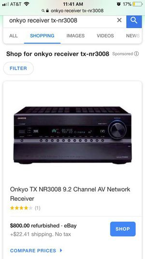 Onkyo stereo receiver for Sale in Austin, TX
