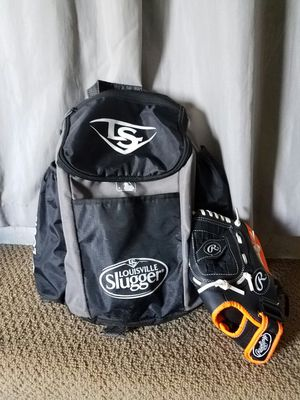 boys baseball bag and glove for Sale in San Leandro, CA