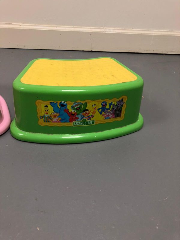 Kids step stool and booster