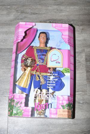 SET OF 2 - Rapunzel Barbie and Prince Ken Dolls - Unopened - Use crown to adjust Rapunzel's hair for Sale in Longmont, CO