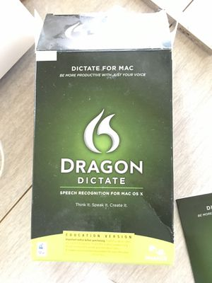 $35 Dragon dictate speech recognition for Mac OS X version 2.0 for Sale in Lakeland, FL