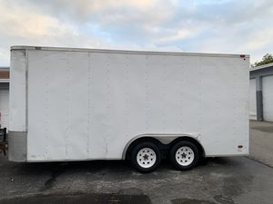 Enclosed trailer 7.6x16 long plus V nose and 7 Tall year 2011 for Sale in West Palm Beach, FL